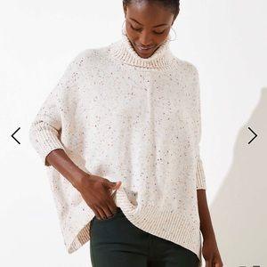 Large - NWT Loft Cowl Neck Poncho Style Sweater
